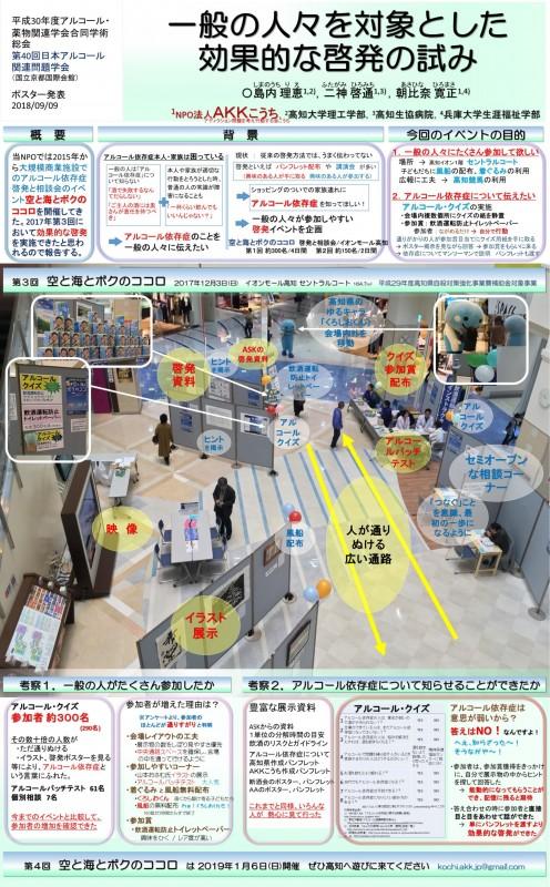 平成30年度アルコール・薬物関連学会合同学術総会 (第40回日本アルコール関連問題学会) ポスター発表